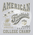 american football college champ vector image vector image
