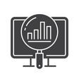 analytics icon symbol of vector image