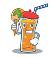 artist cocktail character cartoon style vector image vector image