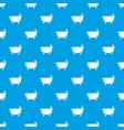 bathtub pattern seamless blue vector image