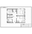 black architecture plan house in blueprint vector image