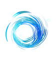 blue waves with bright lights icon vector image vector image