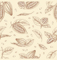 botanical seamless pattern with pods or fruits of vector image vector image
