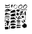 Brush stroke set vector image vector image