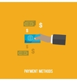 Business concept Payment methods vector image vector image