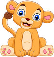 cartoon baby lioness isolated on white background vector image vector image