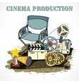 Cinema production decorative poster vector image