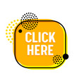 click here banner with abstract design elements vector image