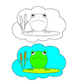 Color-in Frog vector image vector image