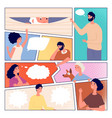 comic page people communication comics poster vector image