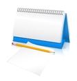 Desk calendar mockup vector image vector image