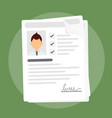 documents with personal vector image vector image