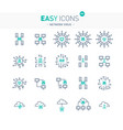 easy icons 48e network virus vector image vector image
