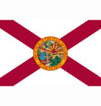 florida state flag vector image vector image