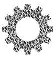 gearwheel composition of mouse cursor icons vector image vector image