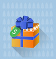 gift box with dollar tag sale or discount on vector image