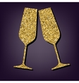 Golden style icon on perple background vector image vector image