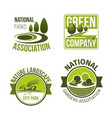 green nature landscape design icons set vector image vector image