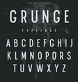 grunge alphabet 006 vector image vector image