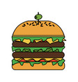 hamburger with olive on top icon image vector image vector image