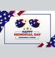 happy memorial day background design vector image