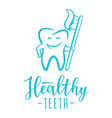 healthy teeth concept design concept vector image