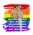 homophobia transphobia and biphobia vector image vector image