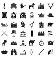 hunting icons set simple style vector image vector image