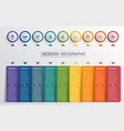 infographics design template color buttons and 9 vector image