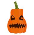 isolated halloween jack-o-lantern vector image vector image