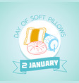 january day of soft pillows vector image vector image