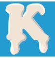 K letter isolated on baby blue background vector image