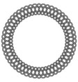 lace rosette macrame round frame vector image vector image
