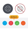 Lifebuoy with rope icon Lifebelt sign vector image vector image