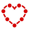 line point heart icon simple style vector image