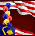 malaysian patriotic banner with space vector image vector image