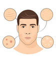 man portrait with facial treatments face skin vector image vector image