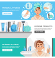 Morning Hygiene Banners Set vector image vector image