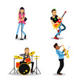 musician characters with different musical vector image