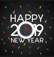 new year 2019 celebration vector image vector image