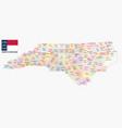 north carolina administrative and political map wi vector image