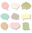 Pastel Speech Bubble vector image