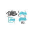 photography service template set vector image vector image