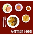 Popular national german cuisine dishes vector image