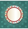 Retro Round Frame on Blue Background vector image