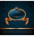 royal background with artistic award golden frame vector image vector image