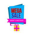 sale banner with gift box vector image vector image