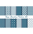 scrapbook boy pattern set vector image vector image
