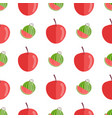 seamless pattern with red apples and watermelons vector image vector image