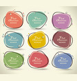 set flat labels paper tags promotion banners vector image vector image